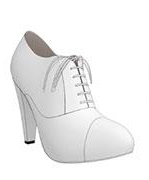 bridal high heel oxfords